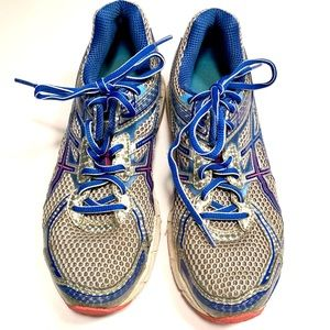 Asics Gel Duomax Womens Gray Blue Pink  Running